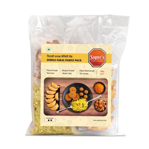 Diwali Faral Family Pack (6 Products) /  दिवाळी फराळ फॅमिली पॅक (6 पदार्थ )